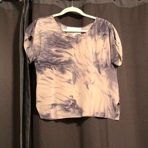 Rory Becca 100% Silk Tie-Dye Short sleeve shirt
